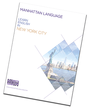 Manhattan Language brochure language school new york